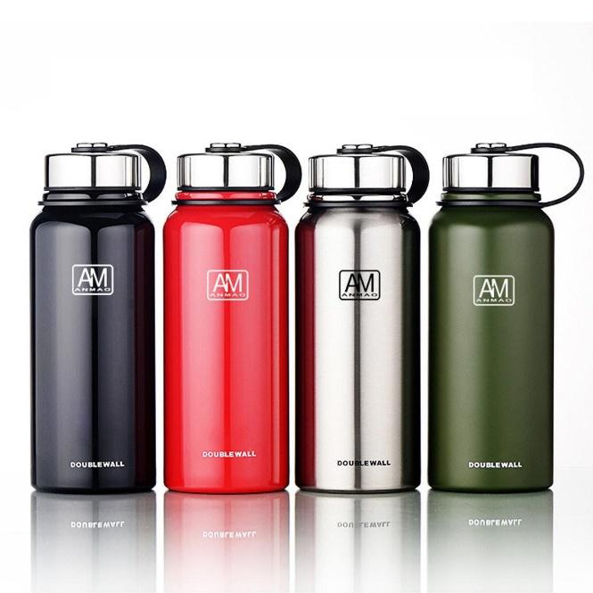 ipree® 1100ml outdoor portable vacuum insulated water bottle ...