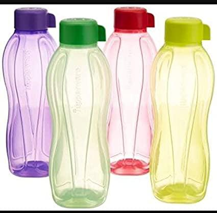 Buy Tupperware Plastic Water Bottle Set, 1 Litre, Set of 4 ...